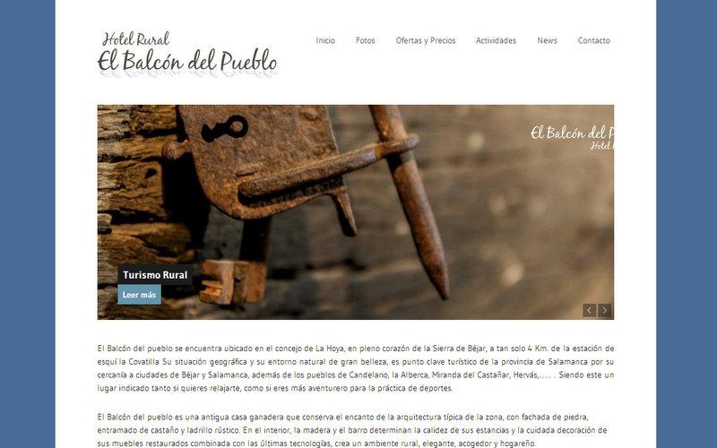 diseño web wordpress ranna consultoria casa rural candelario balcon del pueblo