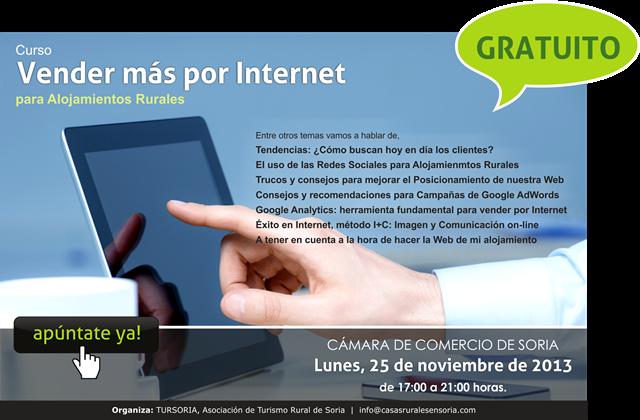 Poster curso Soria 25 noviembre 2013 CASAS RURALES